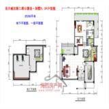 公爵岛·别墅D、Df地下、一层平面户型图